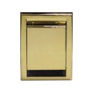 Wykonane z tworzywa sztucznego gniazdo ssące DECO w kolorze złotym