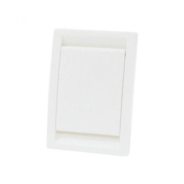 Gniazdo ssące ELLE w kolorze białym.